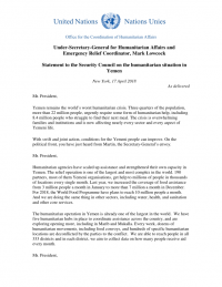 1079164-180417 ERC SC Statement on Yemen as Delivered