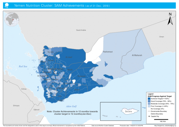 1229514-Yemen Nutrition cluster SAM Achievements (as of 31 Dec, 2018)