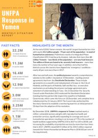 1232329-Yemen Monthly Situation Report #12 December 2018