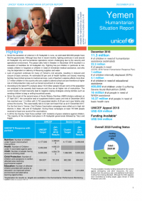 1234333-UNICEF Yemen Situation Report_Year End 2018