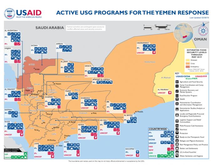 1239998-02.08.19 – USG Yemen Complex Emergency Program Map