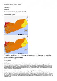 1240113-Yemen Key Message Update, January 2019