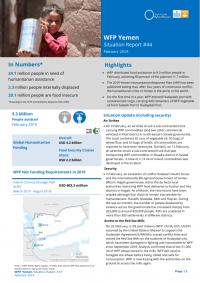 1269313-02 2019 WFP Yemen External Situation Report February