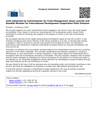 1460199-Joint_statement_by_Commissioner_for_Crisis_Management_Janez_Lenar_i__and_Swedish_Minister_for_International_Development_Cooperation_Peter_Eriksson